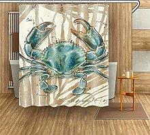 JYEJYRTEJ Watercolor crab Decorative shower