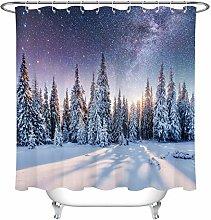 JYEJYRTEJ Winter pine forest snow Decorative