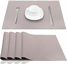 JYKJ Silicone Place Mats Table Placemats, Grey,