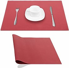 JYKJ Silicone Place Mats Table Placemats, Red,