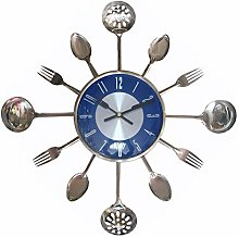 JYMBK Kitchen Head Mute Wall Clock,large Stainless