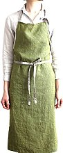 JYPHM Linen Bib Aprons For Women Adjustable With