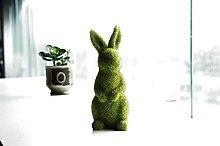 JYSPORT Easter Bunny Statues Furry Flocked Animal