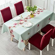 JYXJJKK Cotton And Linen Waterproof Dining Table