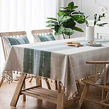 JYXJJKK Cotton Linen Table cloth,Rectangular