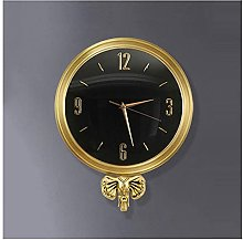 JZDH Decoration Wall Clock Wall Clock Elephant