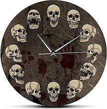 JZDH Wall Clock Anatomical Skulls Wall Clock