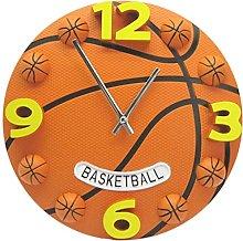 JZDH Wall Clock Football Basketball Clocks World
