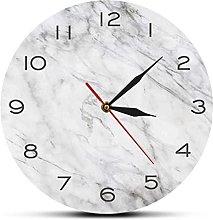 JZDH Wall clock Modern Design White Grey Marble