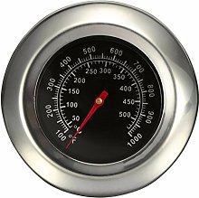Jzhen Stainless Steel BBQ Thermometer Gauge Grill