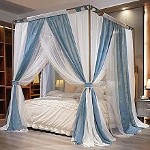 JZUO Canopy Tent Curtain Mosquito-Net Linen double