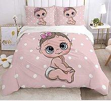 JZZCIDGa Cartoon Baby Girl Bedding3 Pieces