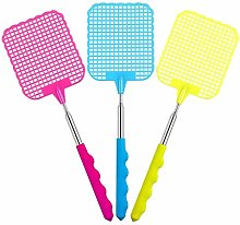 JZZJ Extendable Fly Swatter, Flexible Manual Swat