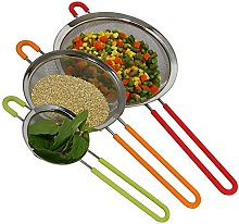 K BASIX Fine Mesh Stainless Steel Strainer with