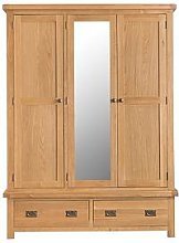 K-Interiors Alana 3 Door, 2 Drw Ctr Mirror Wardrobe