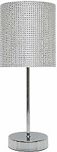 K LIVING Glitzy Metal Chrome Table Lamp with