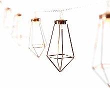 Kacniohen 20 LED Geometric Diamond String Lights,