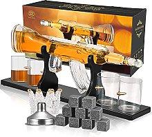 Kacsoo Whiskey Decanter Set Borosilicate Glass Gun