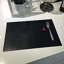 KACTZDZ Grain PVC Placemats Set 6 Pcs Waterproof