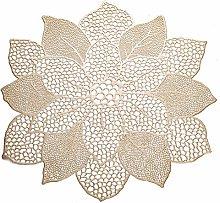 KACTZDZ Lotus Pattern PVC Hot Stamping Placemat 6