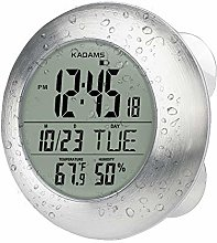 KADAMS Digital Bathroom Shower Kitchen Wall Clock,