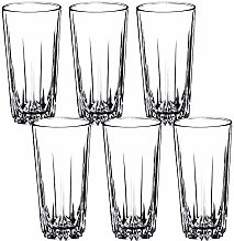 KADAX High Quality Glass Drinking Glasses Set of 6