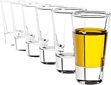 KADAX Vodka Glass, Set of 6, Round Shot Glass, 28