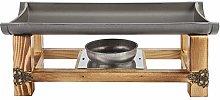 Kadimendium BBQ Grill Aluminum and Wood Material