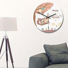 Kadimendium Quiet Wall Clock for Home Office(D