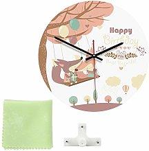 Kadimendium Retro Wall Clock for Living Room(D