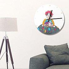 Kadimendium Wall Clock Easy to Install for Living