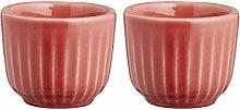Kähler 693029 Hammershoi Egg Cup, Porcelain, Coral