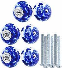 KaiKBax 40mm Modern Ceramic Cabinet Knobs -