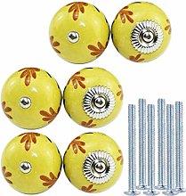KaiKBax 40mm Round Ceramic Cabinet Knobs - Pumpkin