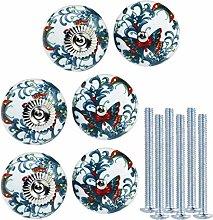 KaiKBax Flower pattern Ceramic Kitchen Cabinet