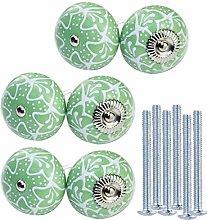 KaiKBax Green Ceramic Cabinet Knobs - Pumpkin