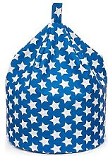 KAIKOO Kids Cotton Beanbag Blue Star, Blue