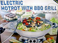 KAILO Multi-Cooker with BBQ Grill, 4 Pieces