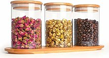 KAILUN 3 Pack Glass Storage Jars with Sealed
