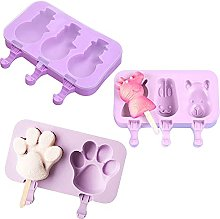 Kaimeilai Set of 3 Ice Moulds, Silicone Ice