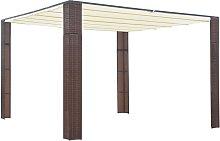 Kairi 3m x 3m Steel Patio Gazebo by Brown - Dakota