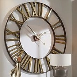 Kaison Clock In Antique Golden Champagne Finish