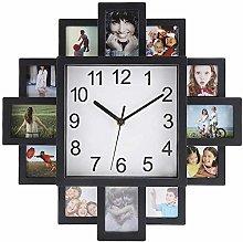 KAIXIN Photo Frame Wall Clock Square Wall Clock