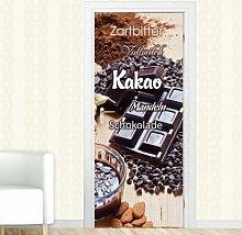 Kakao, Zartbitter Door Sticker East Urban Home