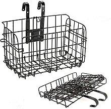 KAKINA Bike Basket Wire Lift-Off Front Basket -