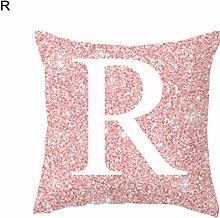 Kalaokei Pink English Letter Alphabet Throw Pillow