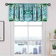 Kaleidoscope Window Kitchen Curtain