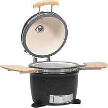Kamado Barbecue Grill Smoker Ceramic 44 cm - Black