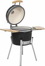 Kamado Barbecue Grill Smoker Ceramic 76 cm - Black