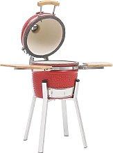 Kamado Barbecue Grill Smoker Ceramic 76 cm - Red -